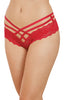 Red Stretch Lace Double Strap Crisscross Panty - Online Women FULL BACK PANTIES