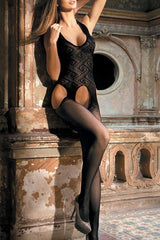 Seductive Halter Lace Crotchless Bodystocking - Online Women BODY STOCKINGS
