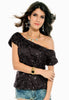 Seductive Off-shoulder Glistening Sequin - Online Women Clubwear Top