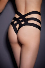 Sexy Cage Bandage Brief Thong - Online Women THONGS