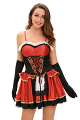Three-piece Fairy Tale Little Red - Online Country Girl & Cowgirl Costume