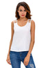 White Cut out Draped Back - Online Women Clubwear Top