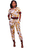 Gold Multiple Print Two Piece Jogger Set - Online Women Pant Sets