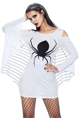 Spiderweb Jersey Tunic Dress - Online Women Plus Size Costumes