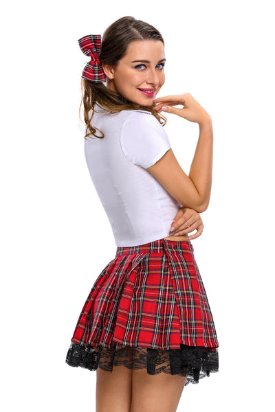 3pcs Temptress School Girl Costume - Online School Girl Costume