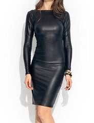 Photo by Supplier  Report Copyright Infringement Women's Two Ways PU Leather Wrap Dress