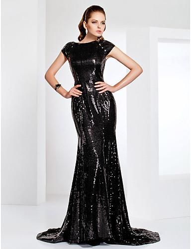 Brush Train Velvet with Pleats - Online Women Evening Dresses