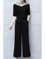 Plain Blouse Pant Suits - Online Women Two Piece Dress