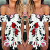 Women Summer Beach Floral Prints Jumpsuit - Online Women Jumpsuits
