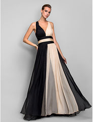 Princess V-neck Backless Chiffon Ball - Online Women Cocktail Dresses