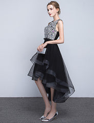 Jewel Satin Tulle Party - Online Homecoming Dress