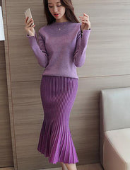 Micro-elastic Suit - Online Women Two Piece Dress