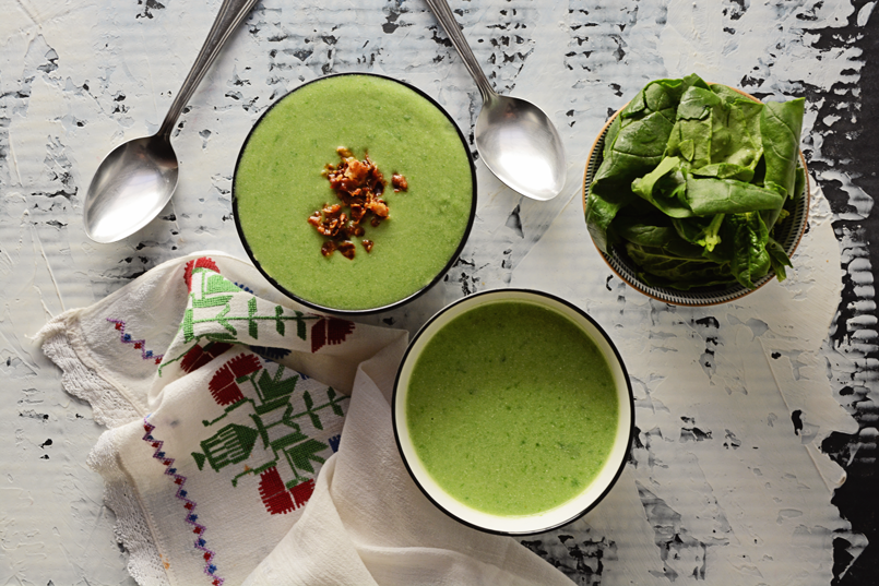 Cauliflower Spinach Soup