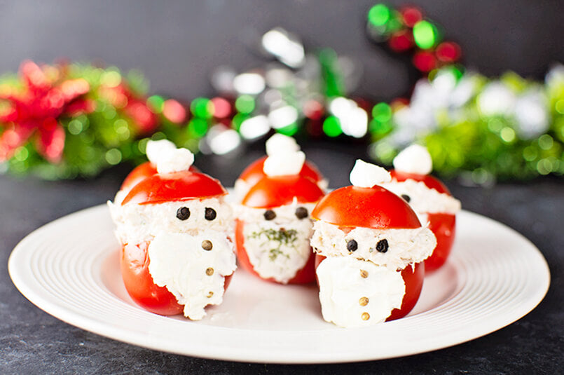Cherry Tomatoes Stuffed With Creamy Tuna, Mayo, and Cream Cheese