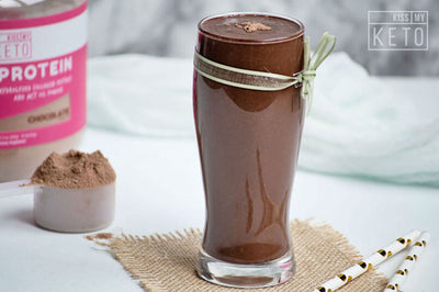 Homemade Banana Chocolate Protein Shake