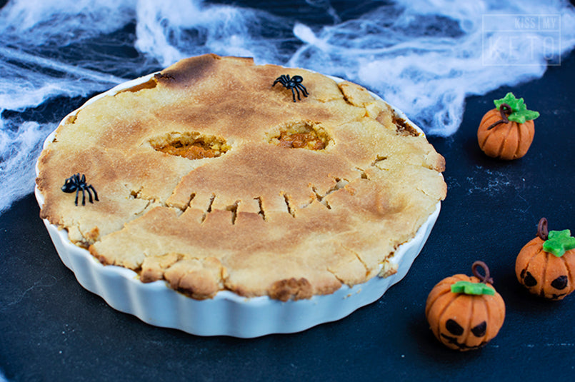 Jack Skellington Inspired Pumpkin Caramel Pie