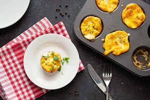Baked Mini-Frittatas with Mushrooms