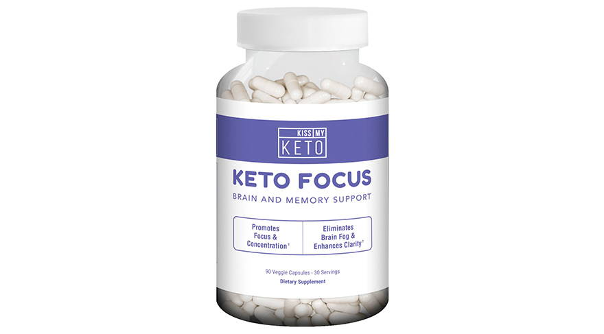 Keto Focus: Brain & Memory Support Capsules by Kiss My Keto (90 Count)