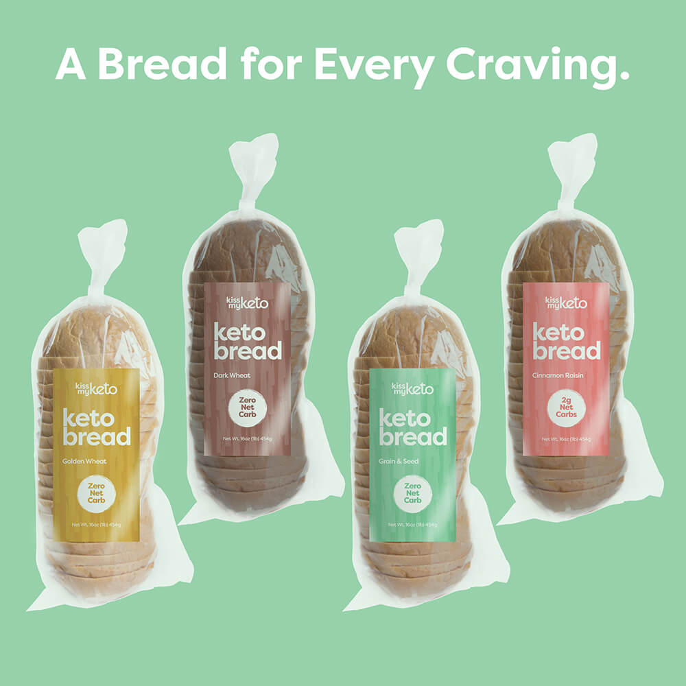 keto bread in four delicious flavors