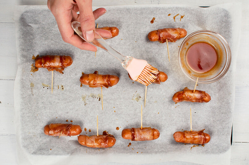 Bacon-Wrapped-Mini-Sausage-instructions