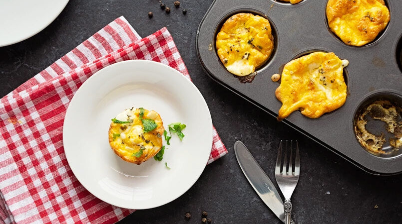 Baked-Mini-Frittatas-with-Mushrooms