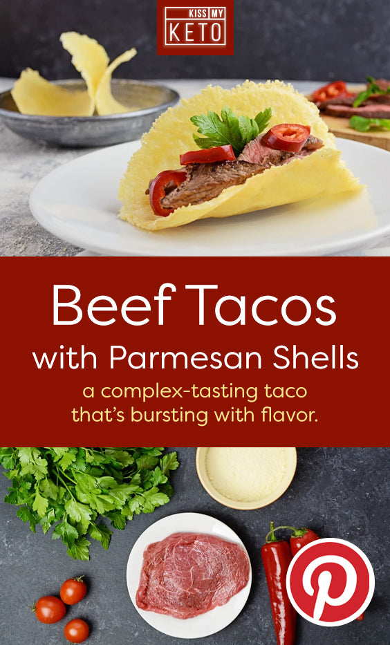 Beef Tacos with Parmesan Shells