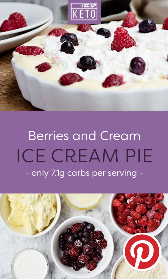 Berries and Cream Ice Cream Pie