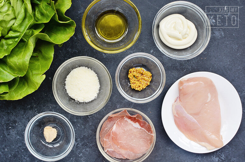 Keto-Caesar-Salad-ingredients
