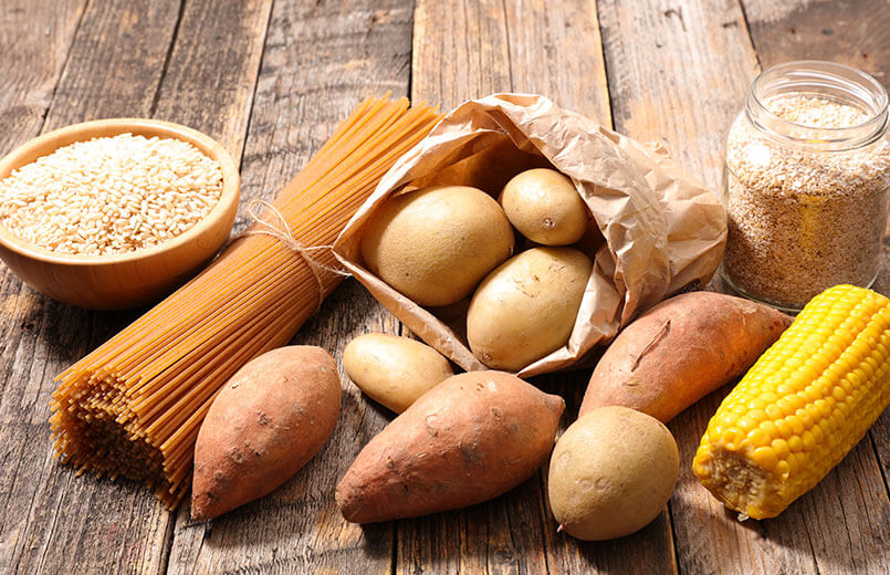 carbohydrate-food-on-wooden-background