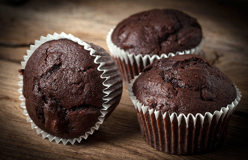 chocolate-muffin-on-dark-background
