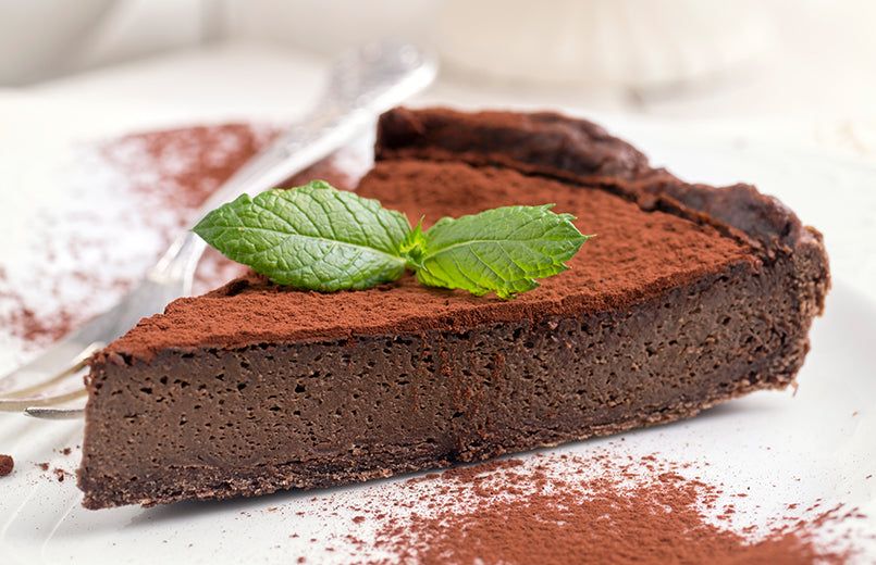 slice-of-chocolate-pie-on-white-plate