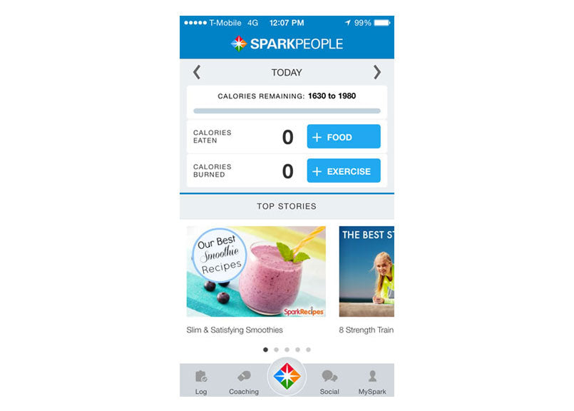 sparkpeople-app-screenshots