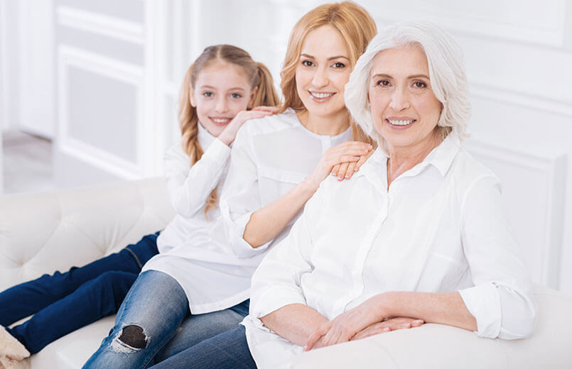 three-generations-females-genetic-inheritance