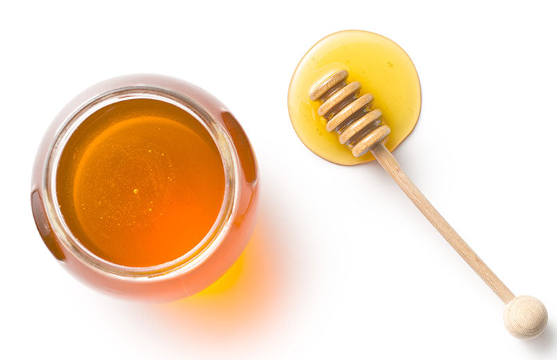 top-view-of-honey-isolated-on-white