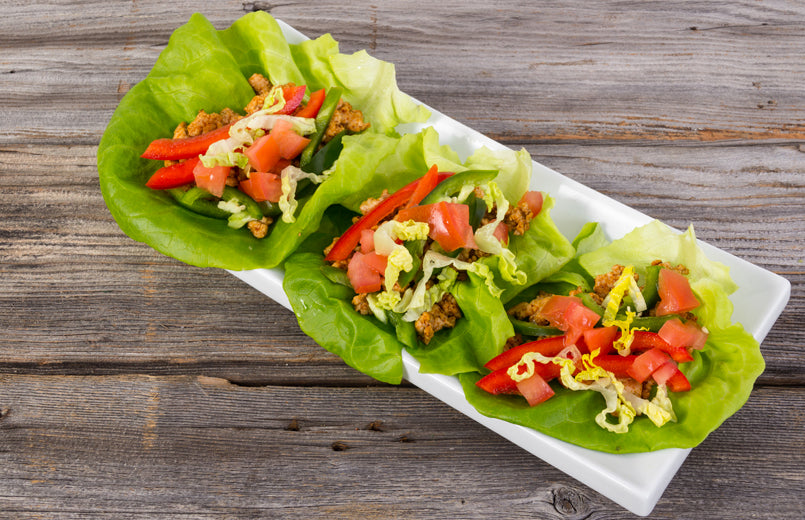 turkey-wraped-in-lettuce-with-red-peppers