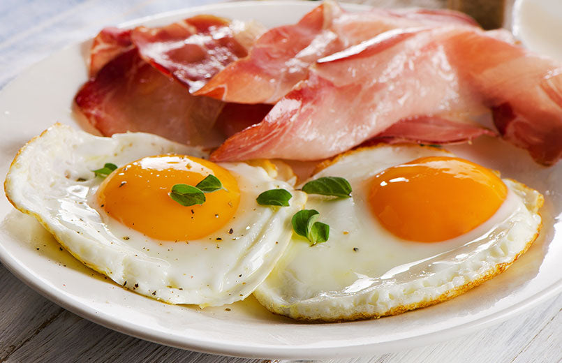 two-fried-eggs-and-bacon-for-healthy-breakfast