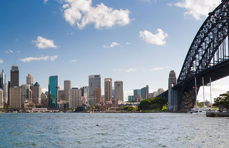 view-of-city-skyline-and-bridge-in-Sidney-Australia