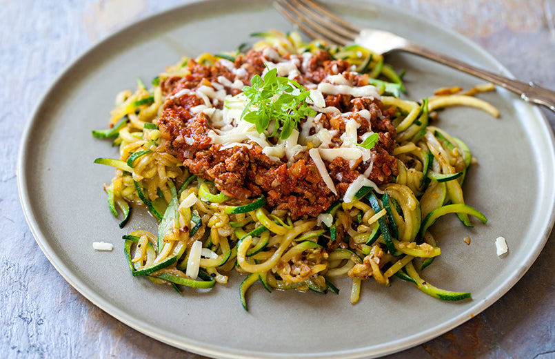 zucchini-spaghetti-with-beef-bolognese-on-a-plate
