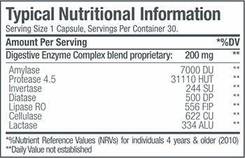 SNP Digestive Enzymes Complex 200mg [30 Caps]