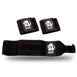 Accessories Universal Animal Wrist Wraps [Black] - Chrome Supplements and Accessories