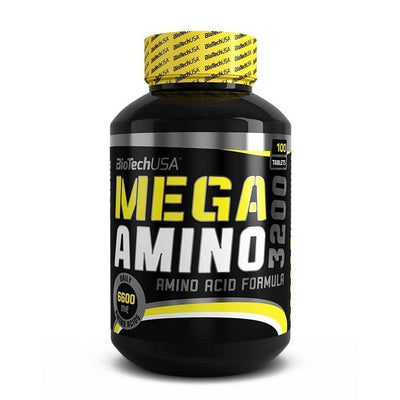 Amino Blend BioTech USA Mega Amino 3200 [100 Tabs] - Chrome Supplements and Accessories