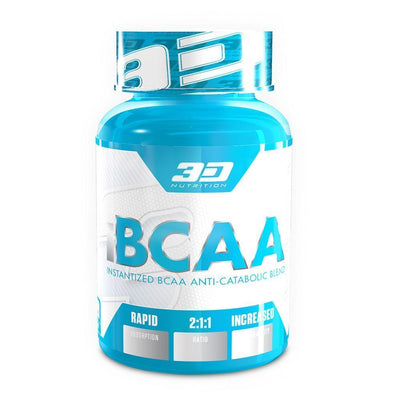 BCAA 3D Nutrition iBCAA [120 Caps] - Chrome Supplements and Accessories