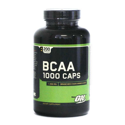 BCAA Optimum Nutrition BCAA 1000 [200 Caps] - Chrome Supplements and Accessories