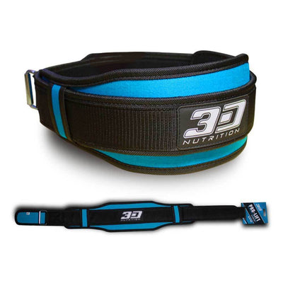 Belt 3D Nutrition Pro Lifting Belt [Blue] - Chrome Supplements and Accessories
