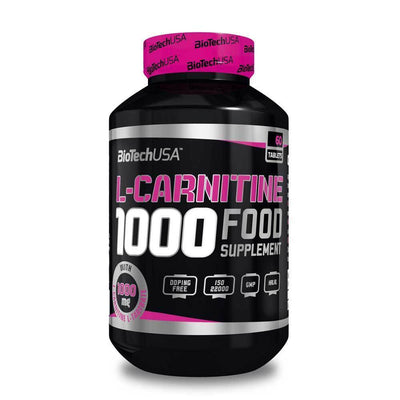 Carnitine BioTech USA L-Carnitine 1000 [60 Tabs] - Chrome Supplements and Accessories