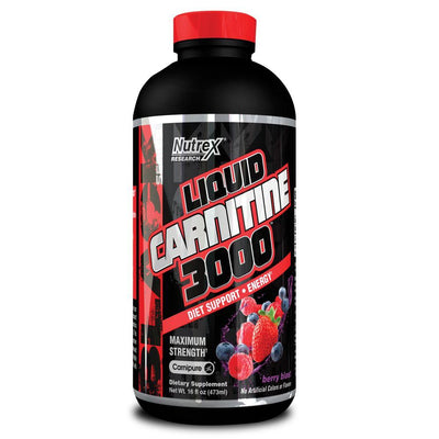 Carnitine Nutrex Liquid Carnitine 3000 [470ml] - Chrome Supplements and Accessories