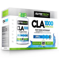 CLA Nutritech CLA 1000 Pack [3x90 Caps] - Chrome Supplements and Accessories