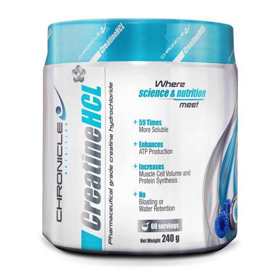 Creatine HCL Chronicle Nutrition Creatine HCL [240g] - Chrome Supplements and Accessories