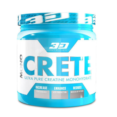 Creatine Monohydrate 3D Nutrition Mono Crete [500g] - Chrome Supplements and Accessories