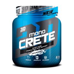 Creatine Monohydrate 3D Nutrition Mono Crete [500g] - NEW - Chrome Supplements and Accessories